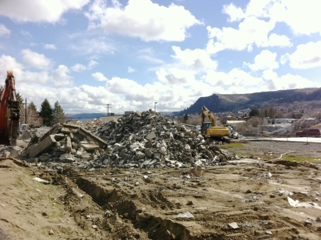 Scrapping the old hospital